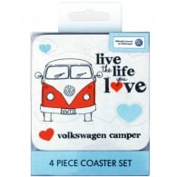 Elgate Live the Life You Love VW Campervan Coasters - Set of 4