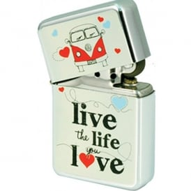 Elgate Live the Life You Love VW Campervan Windproof Lighter