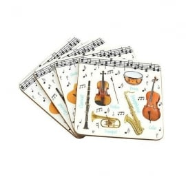 Leonardo Making Music Coaster Set of 4