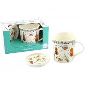 Leonardo Making Music Mug and Coaster Set