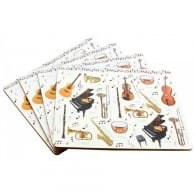 Leonardo Making Music Placemat Set of 4