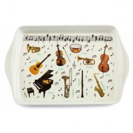 Leonardo Making Music Small Kitchen Melamine Tray