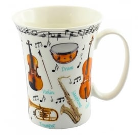 Leonardo Making Music Trumpet Mug