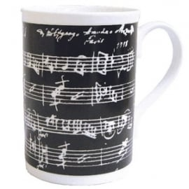Music Gifts Company Manuscript Black Bone China Mug
