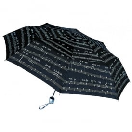 Music Gifts Company Manuscript Black Umbrella