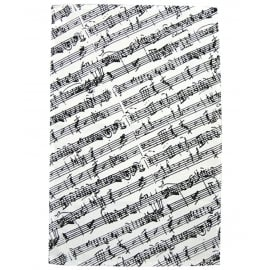 Music Gifts Company Manuscript White/Black Tea Towel