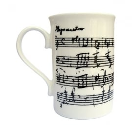 Music Gifts Company Manuscript White Bone China Mug