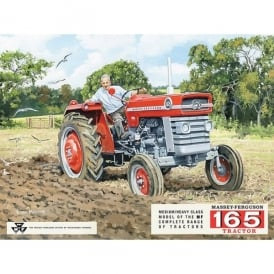 Original Metal Sign Company Massey Ferguson 165 Tractor Fridge Magnet