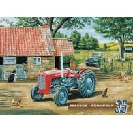 Original Metal Sign Company Massey Ferguson 35 Tractor Fridge Magnet