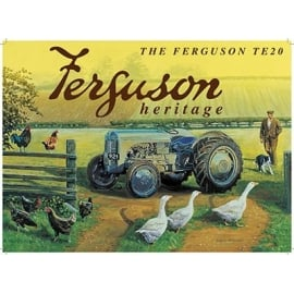 Original Metal Sign Company Massey Ferguson TE20 Landscape Fridge Magnet