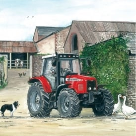 Salmon Art Massey Ferguson Tractor Greeting Card