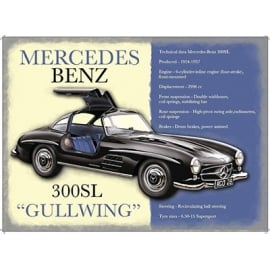 Original Metal Sign Company Mercedes Benz 300SL Tin Sign