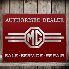 Fiesta Studios MG Metal Sign - Authorised Dealer