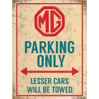 Original Metal Sign Company MG Parking Only Tin Sign