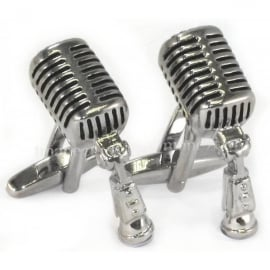 Onyx-Art Microphone Cufflinks