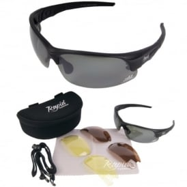 Mile High Edge Black Golf Sunglasses