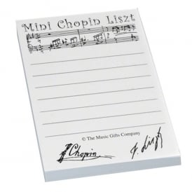 Music Gifts Company Mini Chopin Sticky Notes