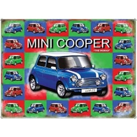 Original Metal Sign Company Mini Cooper Fridge Magnet