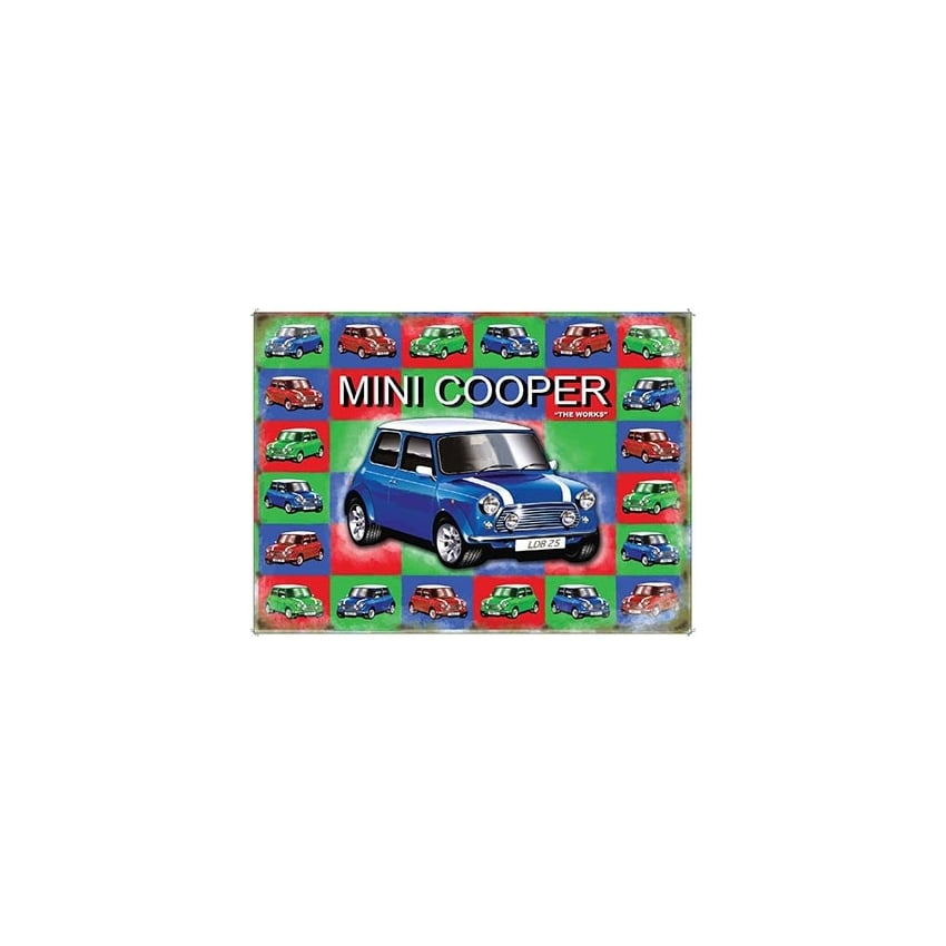 Original Metal Sign Company Mini Cooper Tin Sign