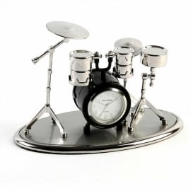 Widdop Miniature Desk Clock - Drum Set
