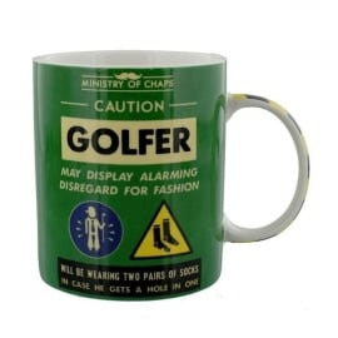 Widdop Ministry Of Chaps Golfer Mug