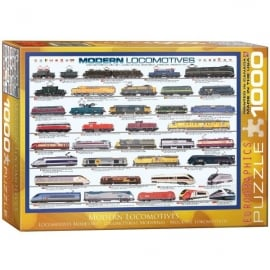 EuroGraphics Modern Locomotives Jigsaw - 1000 Pieces