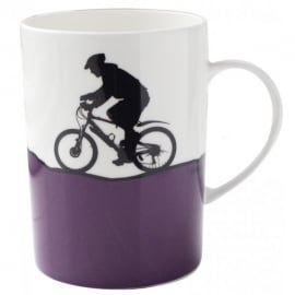 The Art Rooms Mountain Biking Bone China Mug