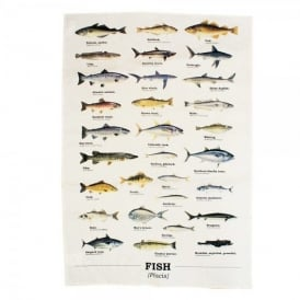 Gift Republic Multi Fish Tea Towel