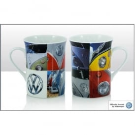 Elgate Multiple Vintage Campers VW Photographic Mug