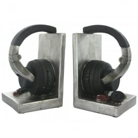 Fiesta Studios Music Headphones Heavy Bookends