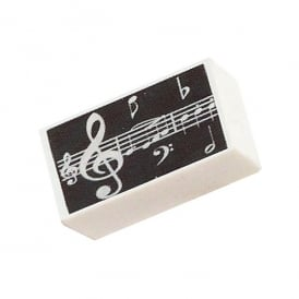Music Gifts Company Music Notes Black Pencil Eraser