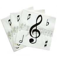 Element Gifts Music Notes Napkins