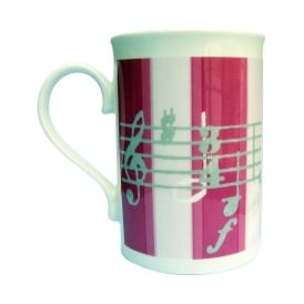Music Gifts Company Music Notes Pink Stripe Mug