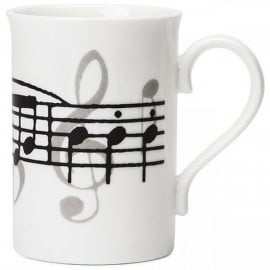 Music Gifts Company Music Notes White Bone China Mug