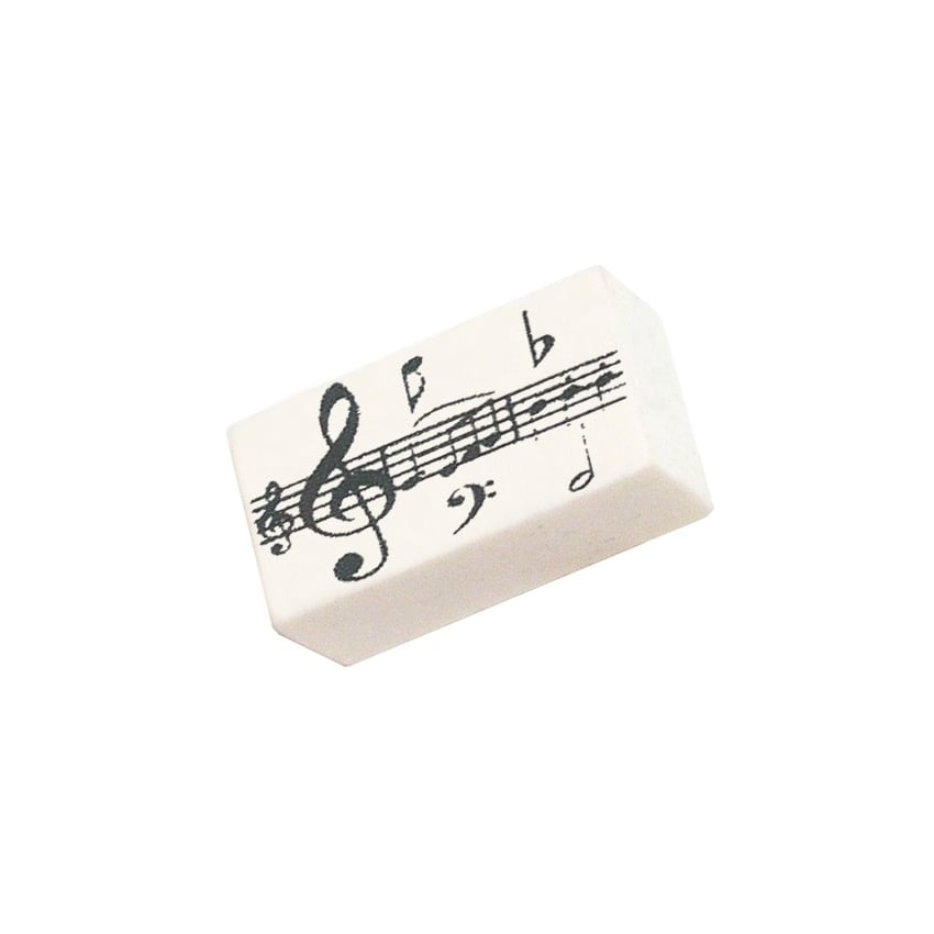 Music Gifts Company Music Notes White Pencil Eraser