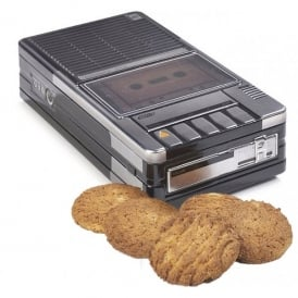 Tins of Treats Music Tape Deck Tin Filled with Biscuits