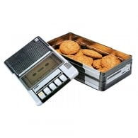 Tins of Treats Music Tape Deck Tin Filled with Biscuits- reduced as content bb sept 2018