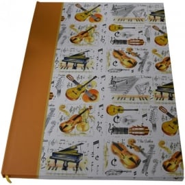 Little Snoring Musical Instrument A4 Hardback Notebook