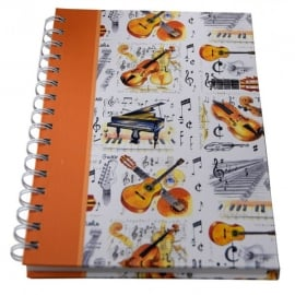 Little Snoring Musical Instrument A5 Hardback Notebook