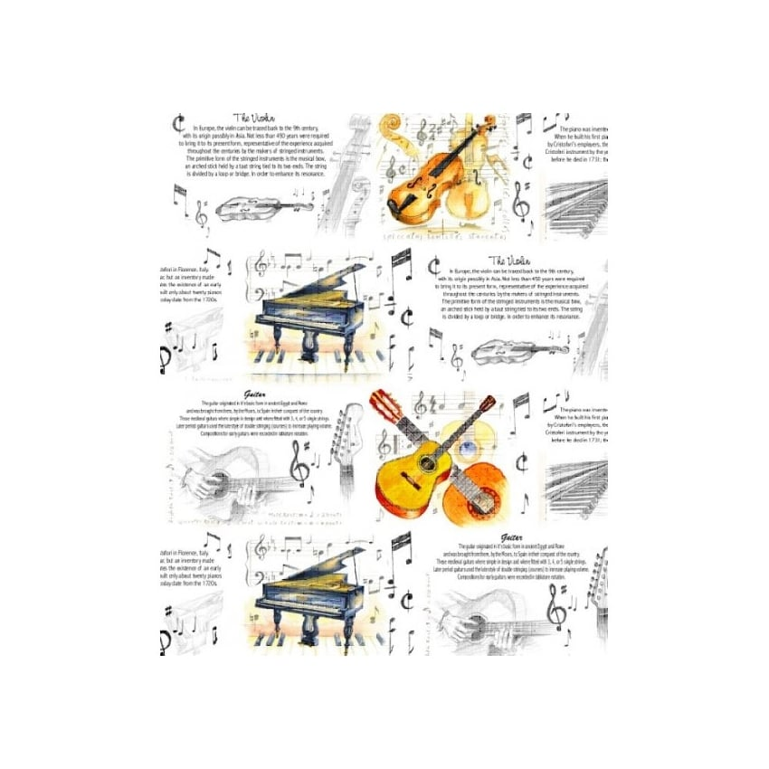 Little Snoring Musical Instruments Gift Wrap