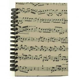 Music Gifts Company Musical Notes A6 Hardback Spiral Notebook