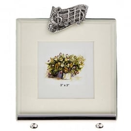 "Orchid Designs Musical Notes Small Photo Frame  - 3"" x 3"""