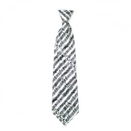 Music Gifts Company Musical Notes White Silk Tie