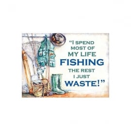 Original Metal Sign Company My Life Fishing Metal Sign