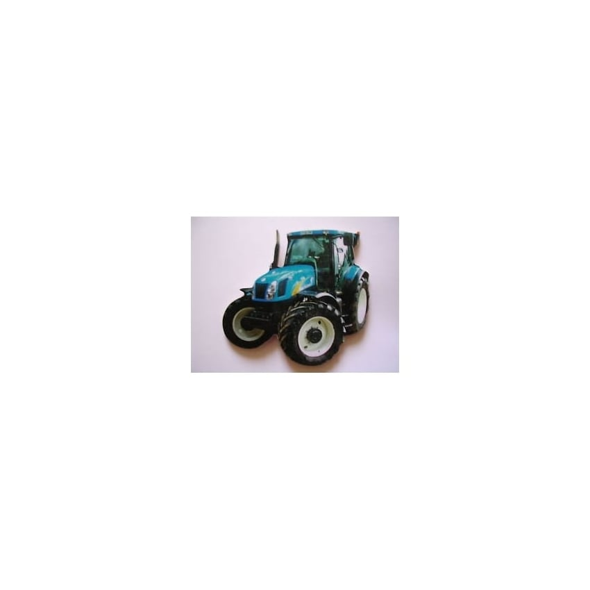 Lark Designs New Holland Tractor Cut Out Jumbo Fridge Magnet
