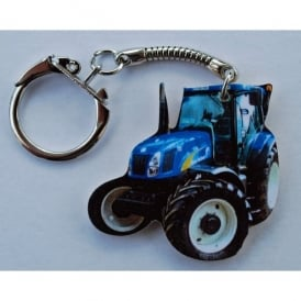 Lark Designs New Holland Tractor Cut Out Keyring