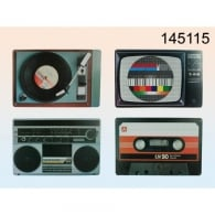 Out Of The Blue Nosalgic Hi-Fi Elemets Placemats - Set of 4 Colours