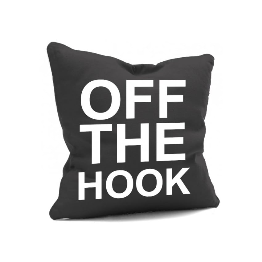 House Of Cushions Off The Hook Filled Cushion