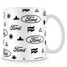 Fiesta Studios Official Ford Mug - White Logo