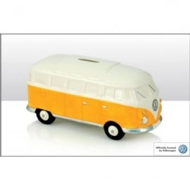 Elgate Orange & White VW Campervan Money Box